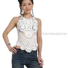 Crochet gold: The white top! With  diagram pattern