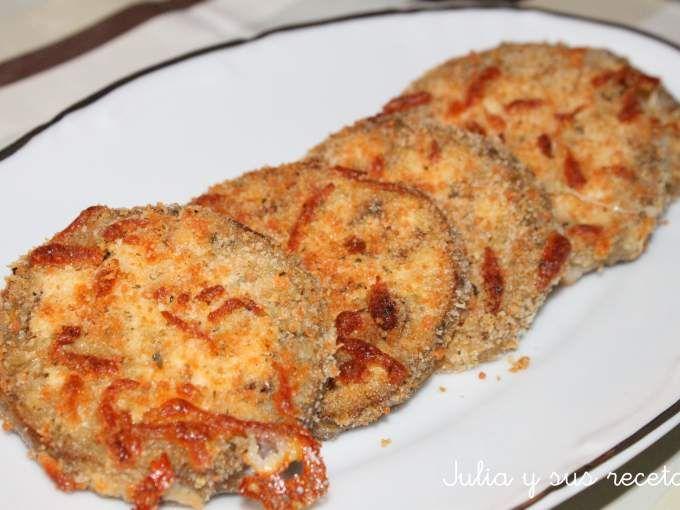 Entrante - Receta Entrante : Berenjenas crujientes con queso por Juliaysusrecetas