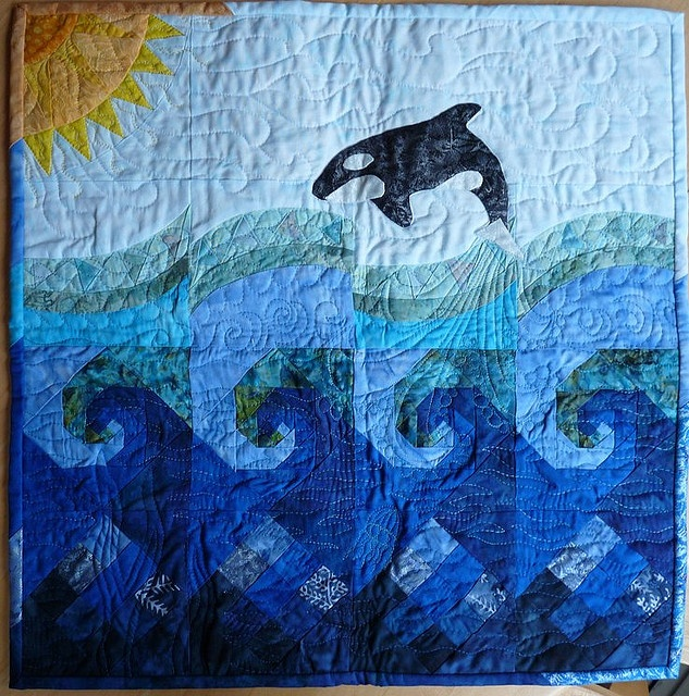 72 best Quilts | Dolphins, whales, oceans and seascapes images on ... : dolphin quilt - Adamdwight.com