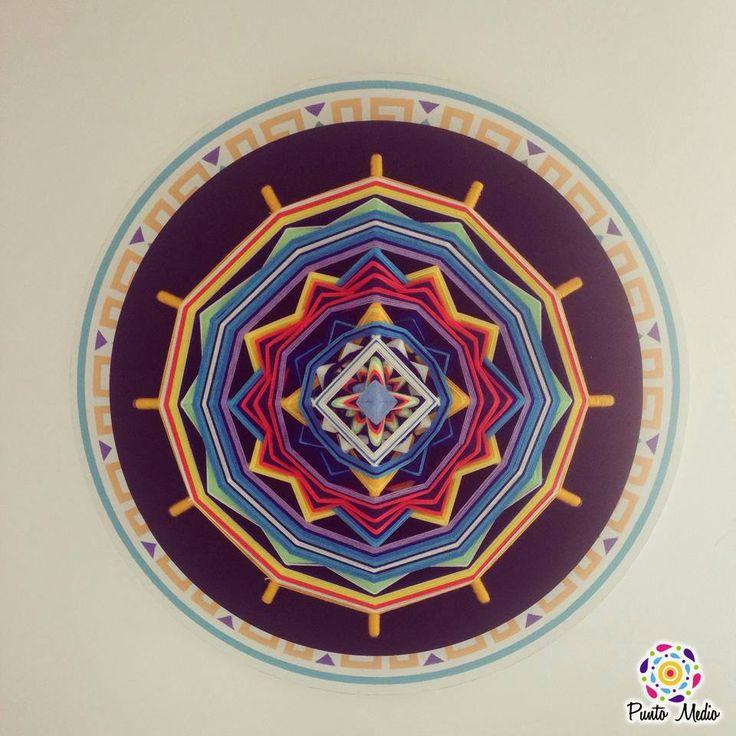 Armoniza tus espacios con un mandala lleno de alegría y esperanza que evoca tranquilidad y buena salud. www.facebook.com/Ptomedio