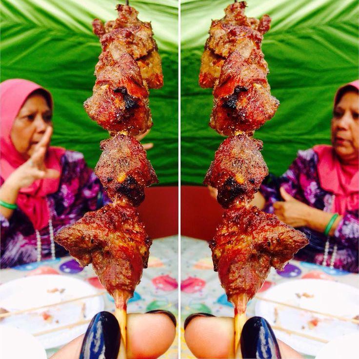 Sunday Market Woodridge, Brisbane goat kebabs.  #kebab #meatonastick #bbq #love #photooftheday #stopstuffingyourface #instagood #blacknails