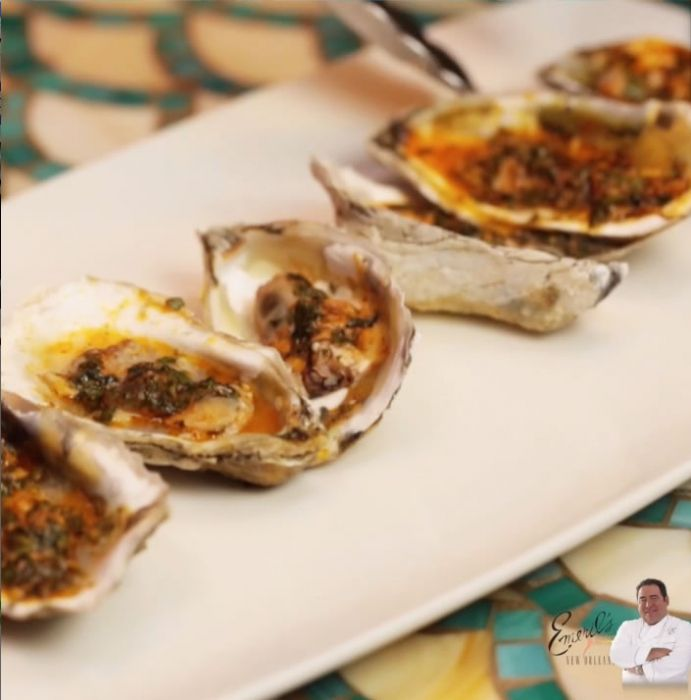 Emeril's New Orleans Fish House Broiled Oysters Recipe