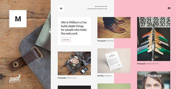 Millburn - Minimalist Portfolio Theme - Portfolio Creative