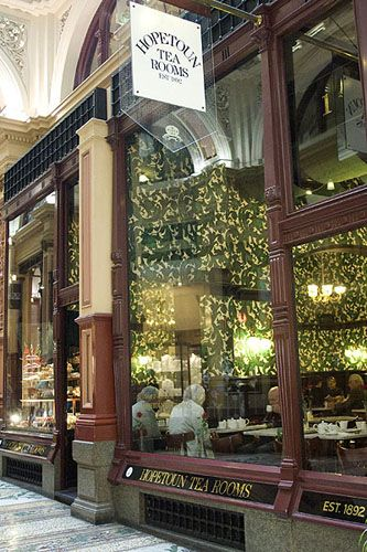 Hopeton Tea Rooms Block Arcade Melbourne Victoria Australia