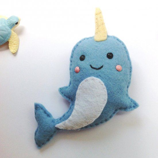 a fun and simple sewing tutorial with step by step instructions on how to sew a felt narwhal. With suggestions on alternative uses.