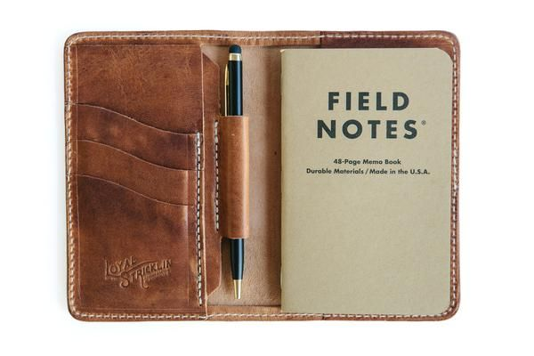 Great leather field notes folio. Has a place for pen and cards!