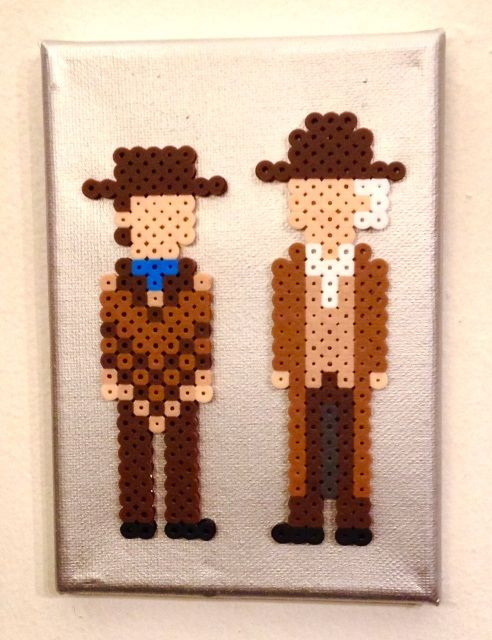 Doc & Marty 1885 - Back to the Future perler beads by Kyle McCoy