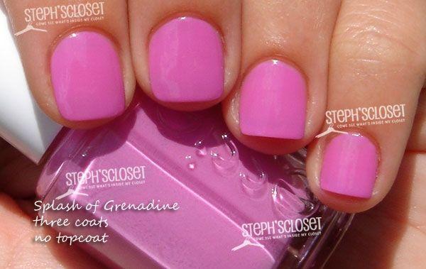 essie splash of grenadine:  magenta (pink-purple)