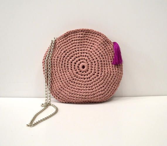 Crochet crossbody bag circle bag