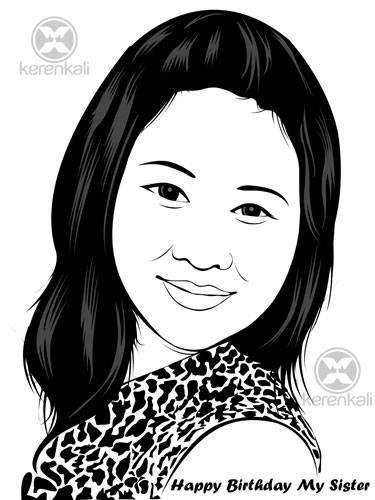 Jasa Line Art 75rb/wajah. hub 29e9d899 -hp 081239687221 - www.kerenkali.com