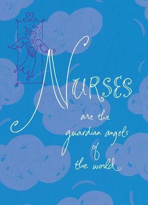 Guardian Angel Nurse Nurse's Day Card