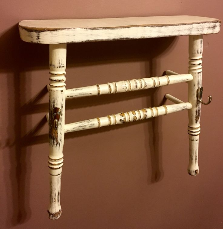 Wooden chair shelf and towel rack