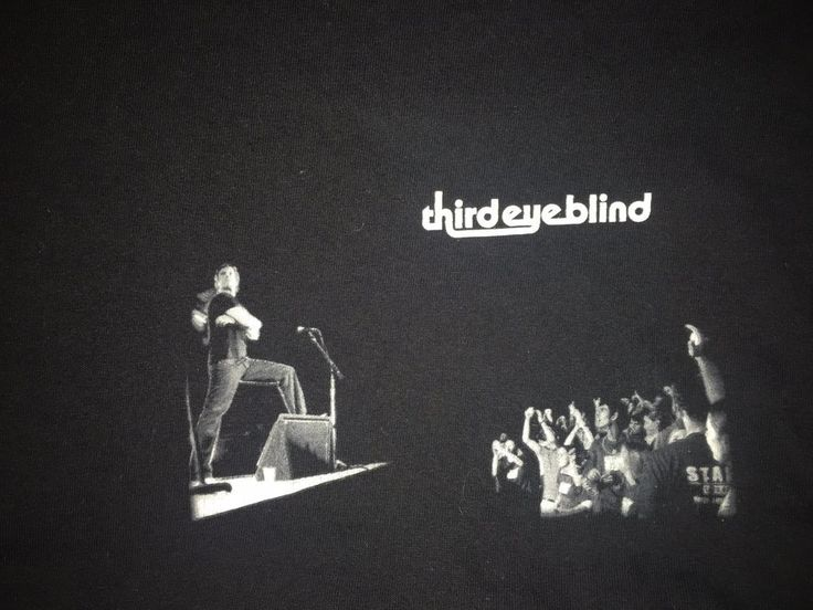 Third Eye Blind Concert 2007 Tour T Shirt Large Black With Dates 90's Rock Band  #Anvil #GraphicTee