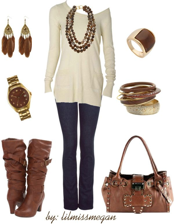"""""""BROWN up your accessories!"""" by lilmissmegan on Polyvore"""