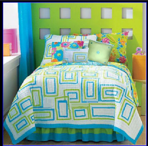 Image Detail For Lime Green And Turquoise Blue Bedding