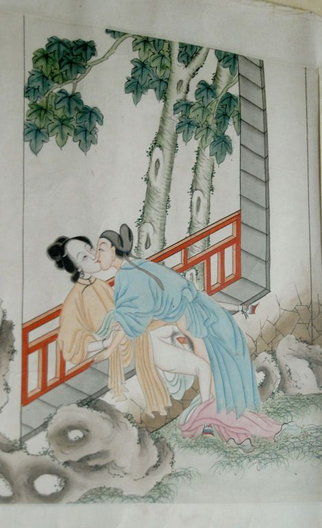 Many pillow books were destroyed during the early days of Communist China. Most of the surviving erotic scrolls have been cut into individual pieces and sold as small paintings which makes this complete piece even more valuable.
