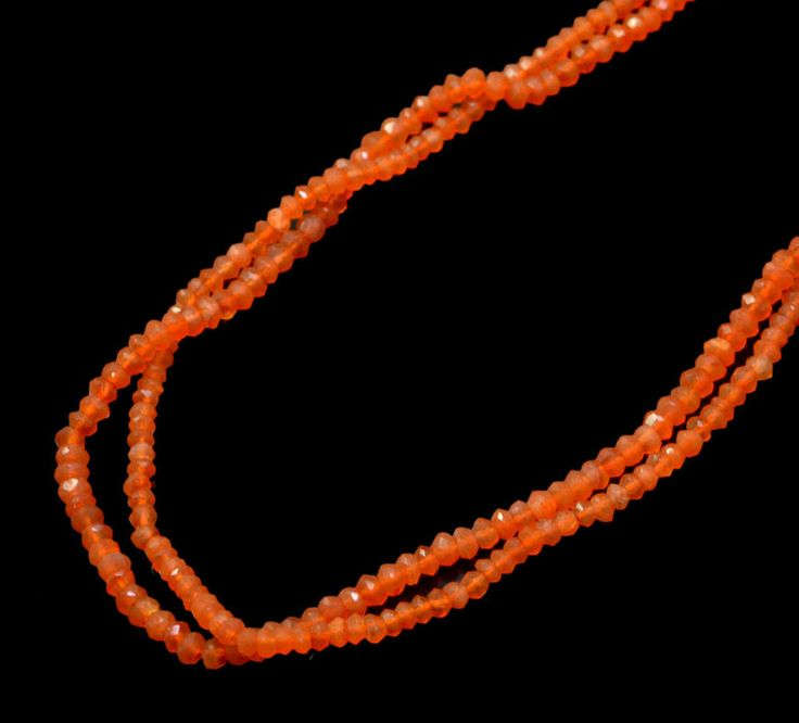 Natural Orange Carnelian Round Faceted Shape Gemstone Beads String Strands #krishnagemsnjewels #StrandString
