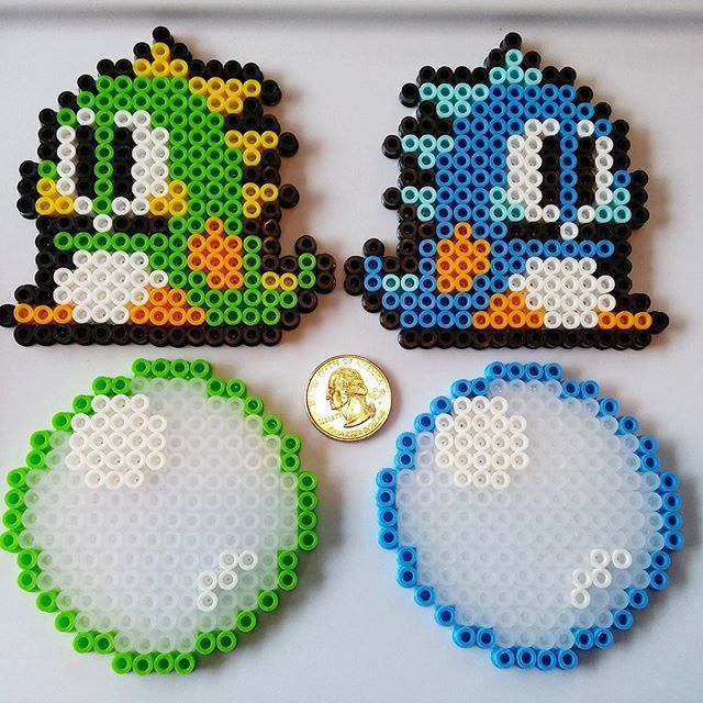 Bubble Bobble perler beads by incredaboo