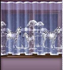 Metrážová záclona žakárová výška 150cm W-62355 Zebry