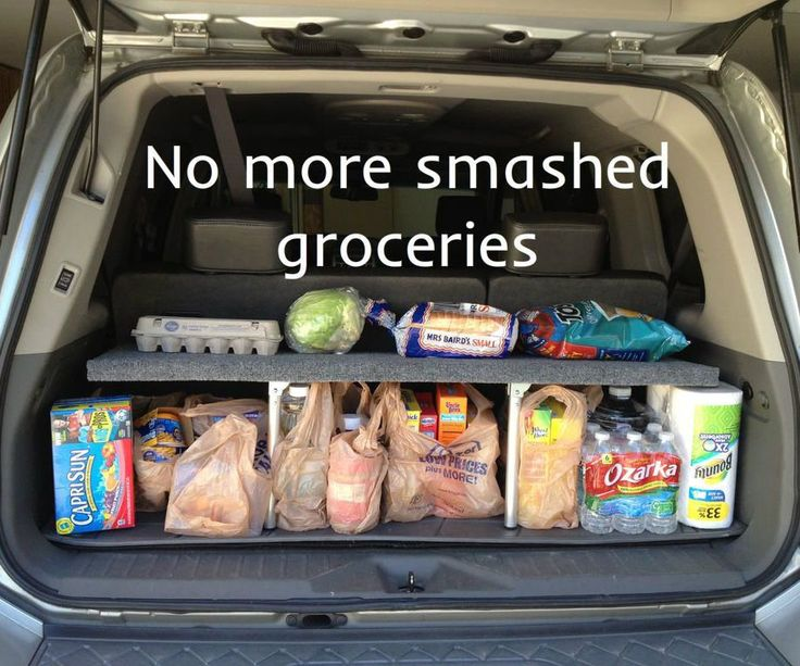 My SUV is great, the third row seat gives me plenty of room for my kids and their friends but it makes for a short trunk area. That leaves two options when I have a load of groceries; either fold down the third row seat, or stack the groceries in the back. Here's the problem, if I fold down the third row it leaves a cavernous space and my groceries (or sports items on the weekend) roll around and get smashed plus I have to crawl around back there to gather the groceries when I get home to…