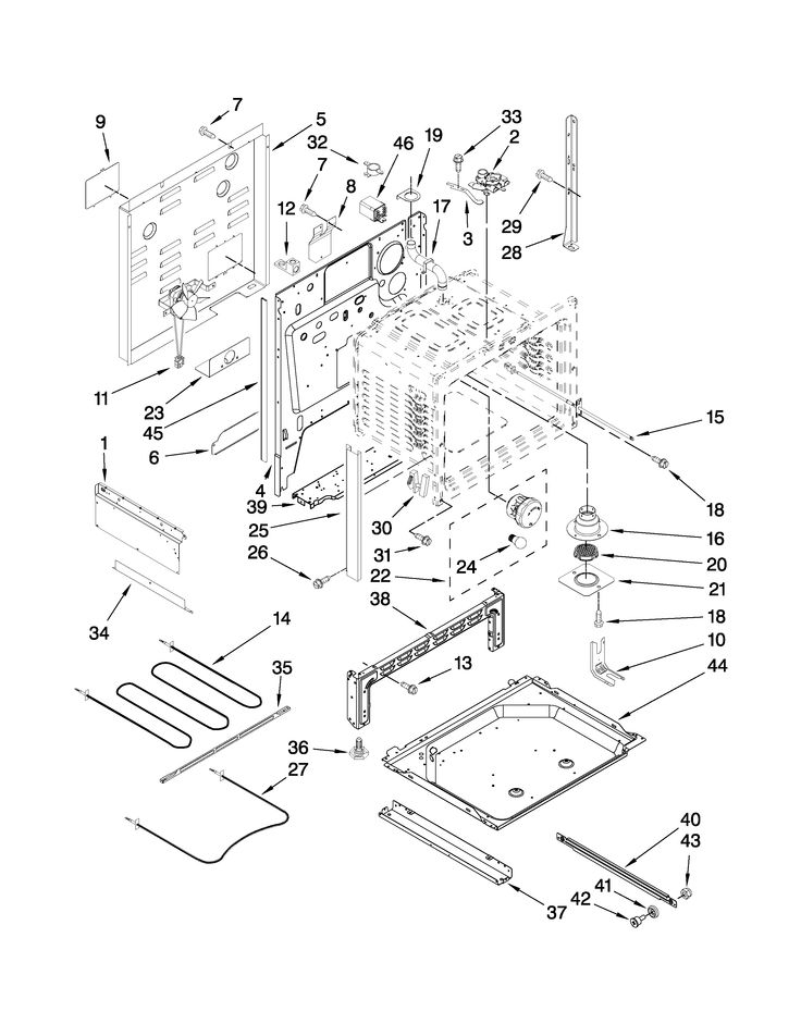 kitchenaid microwave parts diagram