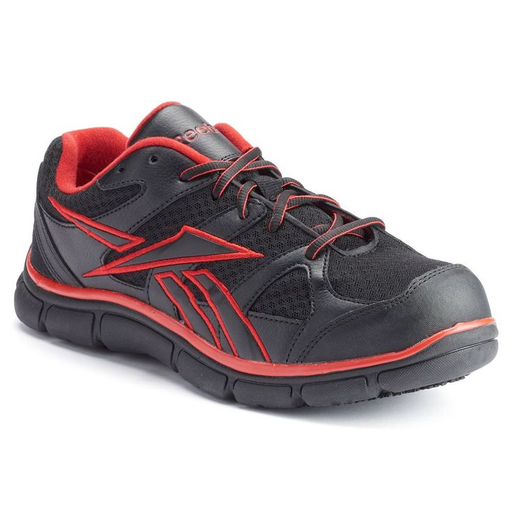 Reebok Work Sport Grip Men's Composite-Toe Shoes, Size: medium (11.5), Black