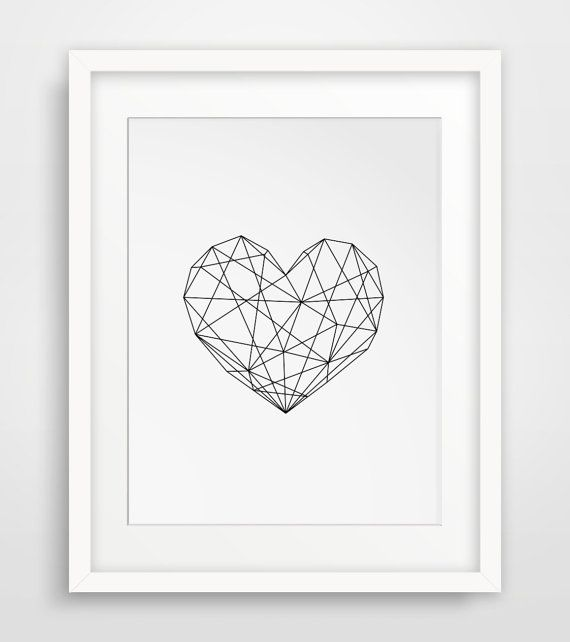 Centro geométrico decoración moderna por MelindaWoodDesigns en Etsy