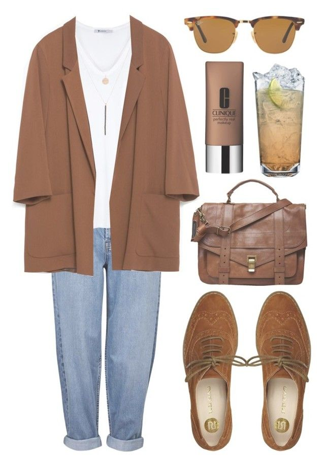 """""""Untitled #142"""" by tamara-xox ❤ liked on Polyvore featuring moda, Clinique, Topshop, T By Alexander Wang, Ali Moosally, Zara, Proenza Schouler, River Island, Ray-Ban i white"""