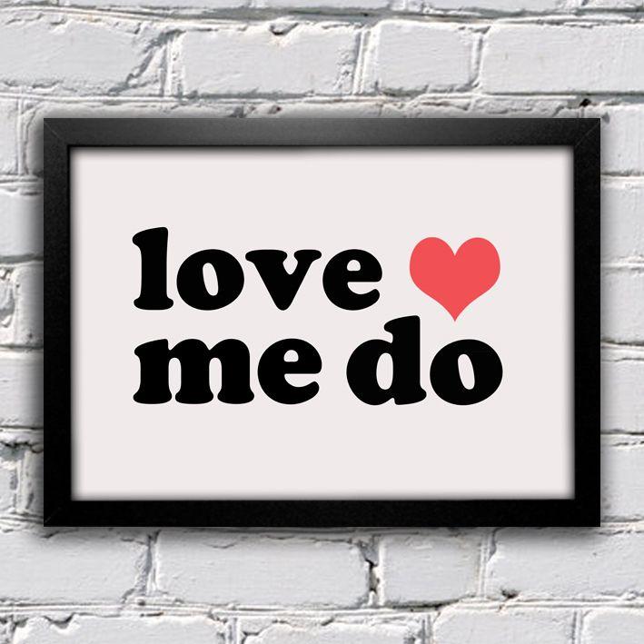 Poster Beatles Love Me Do — www.encadreeposters.com.br