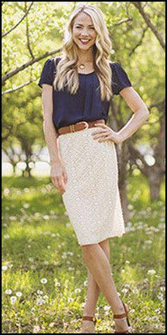 Modest Perfect Summer Lace Pencil Skirt – ModestPop.com