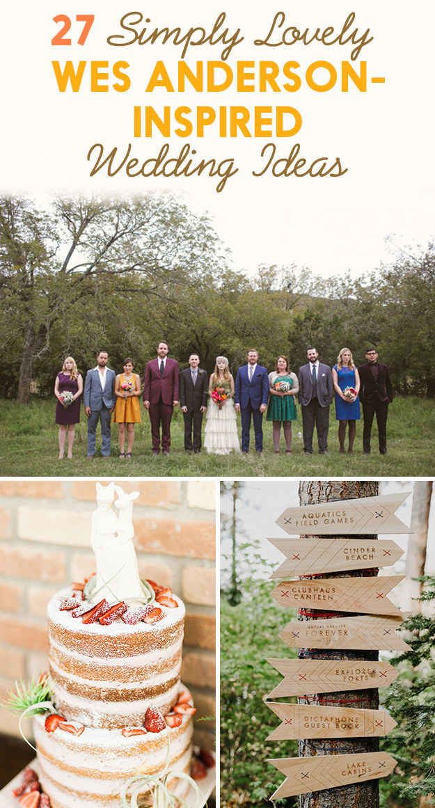 27 Simply Lovely Wes Anderson-Inspired Wedding Ideas