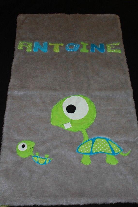 Couverture bébé chapardeur tortue