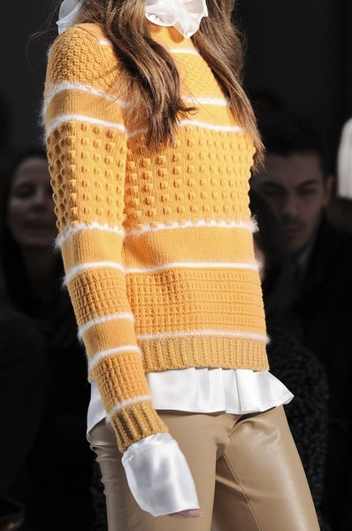 Normaluisa Fall 2012 - Details ... note the white detail stripes are angora ... lovely
