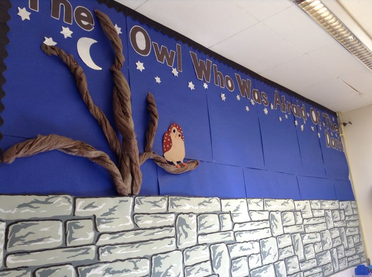 The Owl Who Was Afraid Of The Dark. Literacy Classroom display.