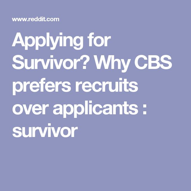 Applying for Survivor? Why CBS prefers recruits over applicants : survivor
