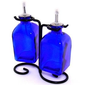 Cobalt Blue Olive Oil & Vinegar 	$21