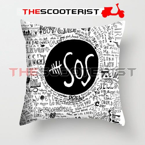 5sos liryc quote pillow cover 18 x 18 one side by for 5sos room decor ideas