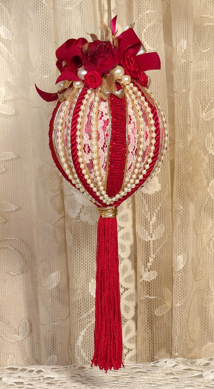 Victorian christmas ornaments - Handmade Victorian Christmas Ornament