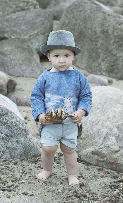 Felted jumper / Купить Балтика - голубой, свитер, валяный свитер, детская одежда, детский свитер, для малышей, для малыша