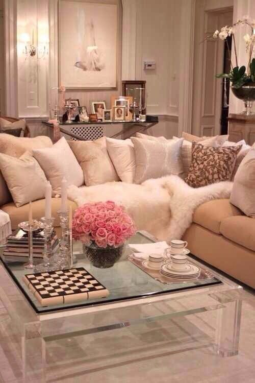 Feminine Girly Living Room