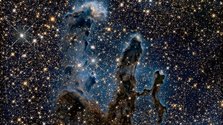 """PHOTO: NASA released a new photo of the """"Pillars of Creation"""" from the Hubble Telescope, Jan. 6, 2015."""