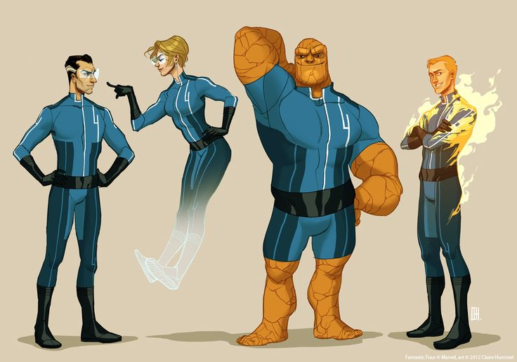 shoomlah:    Finally sucked it up and submitted my entry to Project Rooftop's Fantastic Four redesign contest!  I love superhero teams, especially ones who spend a lot of their time sciencing, so this was fun.