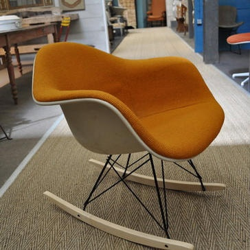 ... chair gadgets forward eames rocking chair with upholstered seat