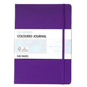 J.Burrows Large Coloured Journal - Purple