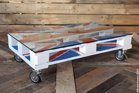 Per i fans delle bandiere nasce questo tavolino basso da salotto frutto di una combinazione di idee avute dagli auto costruttori che pubblicano le loro creazioni su internet. Dotato di ruote frenanti e vetro infrangibile può essere personalizzato a seconda dei gusti.