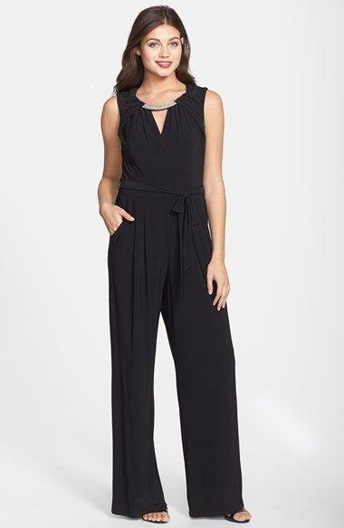 Eliza J Embellished Pleated Jumpsuit available at #Nordstrom