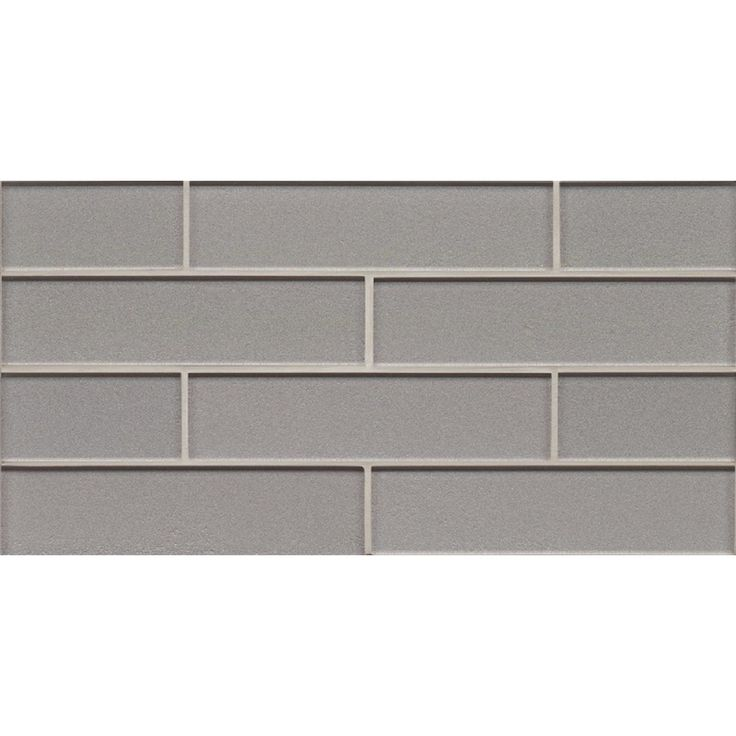 Bedrosians 8 In X 16 Manhattan Platinum Gl Wall Tile At Lowes