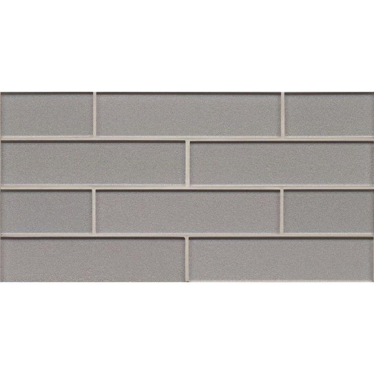 Lowes Kitchen Tile: Shop Bedrosians 8-in X 16-in Manhattan Platinum Glass