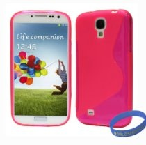 Worldshopping Slim-Fit S-Line Ultra Durable TPU Back Case Cover for Samsung Galaxy S4 SIV + Free Accessories (Galaxy S4, Pink) $4.99