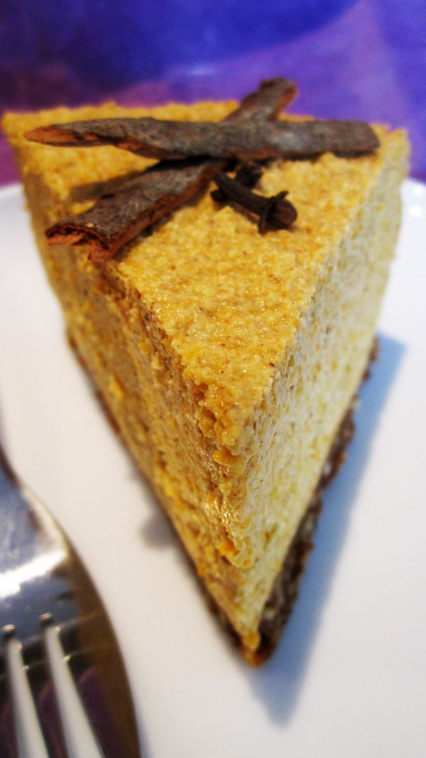 Raw Vegan Pumpkin Cheesecake Recipe
